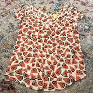 *like new* Anthropologie Watermelon Top, Size 6
